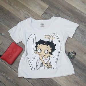 Betty Boop Angel white Tee sz XL t-shirt